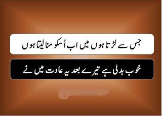Jiss say Larta hn Mein ab Usko Manaa laita hn | Sad Urdu Poetry - Urdu Poetry Lovers