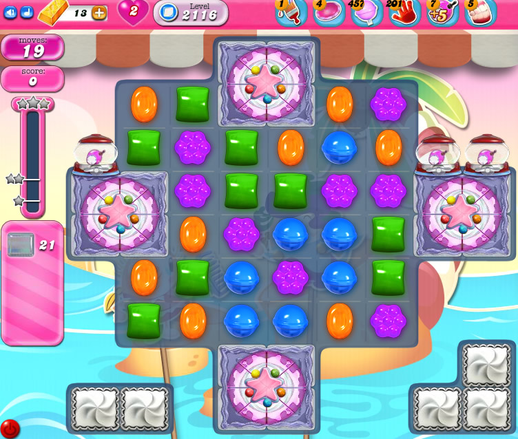 Candy Crush Saga level 2116