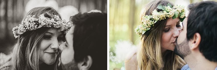 e-session - ensaio noivos - ensaio casal - ensaio ao ar livre - e-session ao ar livre - noivos - coroa de flores - ensaio vintage - ensaio retro - boho