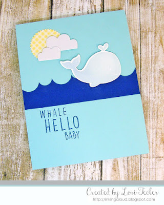 Whale Hello Baby card-designed by Lori Tecler/Inking Aloud-stamps and dies from Reverse Confetti