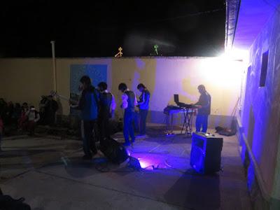 Die Band des Collegio Esmoraca spielte zum Fest