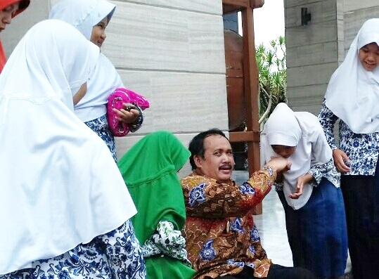 Ribuan Pelajar SD/MI dan SMP/MTs di Pangandaran Ikuti Pesantren Kilat Selama Liburann Ramadhan 1440 H