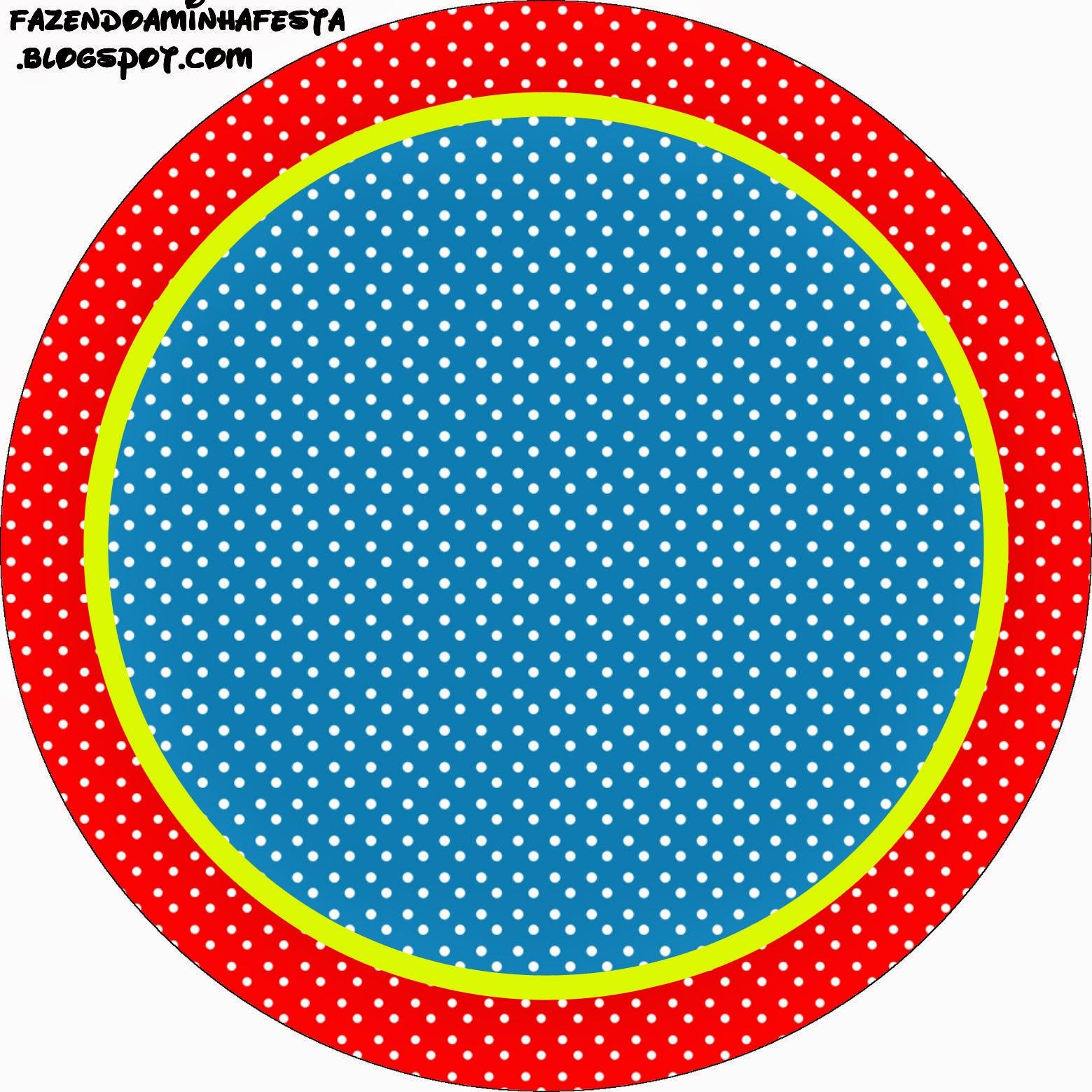 Toppers o Etiquetas de Rojo, Amarillo y Azul para imprimir gratis.