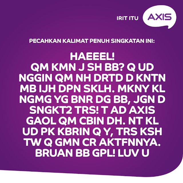 Paket Axis Gaol Telpon dan SMS gratis semaumu