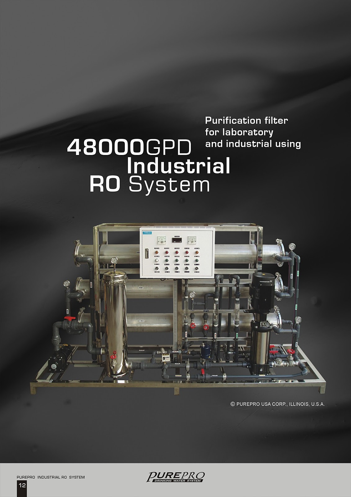 PurePro® RO48000 Industrial Reverse Osmosis Water Filter System