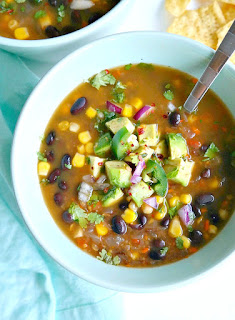 black bean vegetarian winter soup recipe
