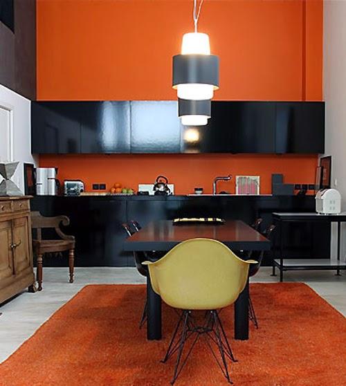 Cocinas modernas color naranja  Colores en Casa