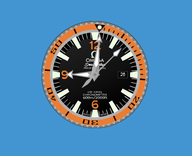 Будильник отображает часы и небольшие цифровые часы ozclock выполнены в строгом лаконичном стиле.