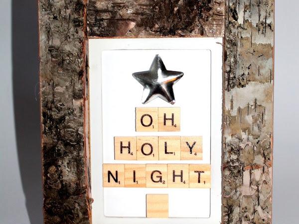 DIY Bild Oh Holy Night aus Scrabble Buchstaben