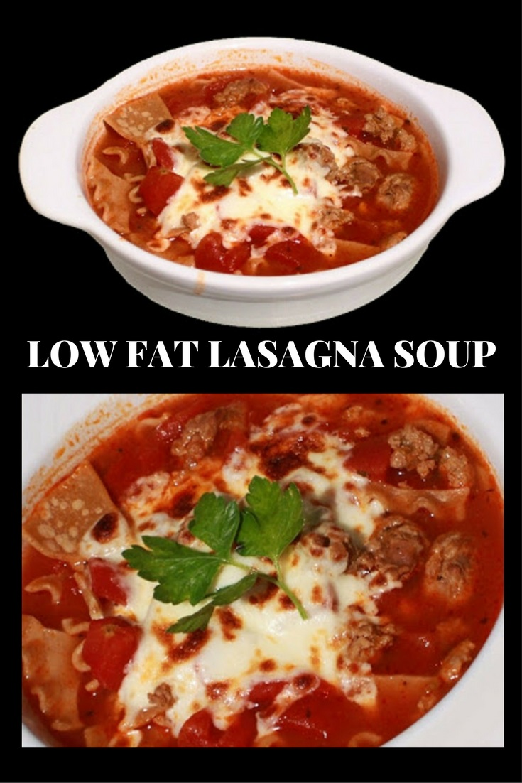 this is lasagna soup that is for Pinterest