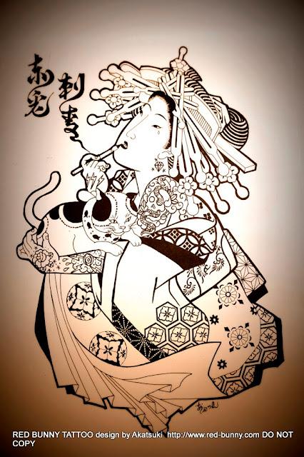 花魁 猫 赤兎刺青