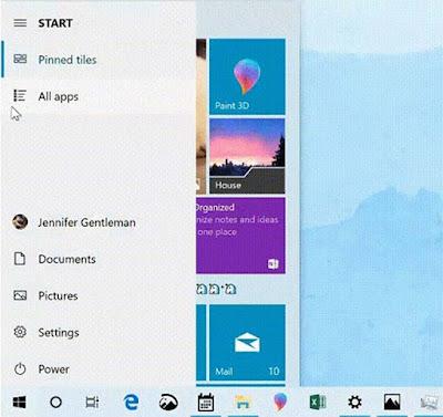 Menu Start Windows 10 May 2019 Update Jadi Lebih Cepat Dan Lebih Baik