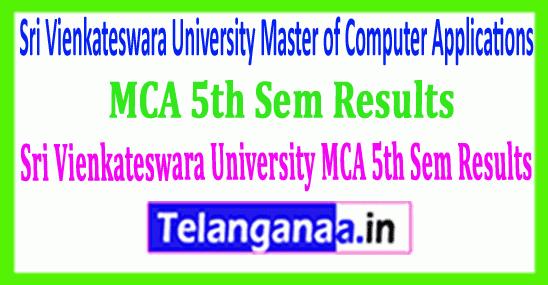 SVU Sri Vienkateswara University MCA 5th Sem 2019 Results