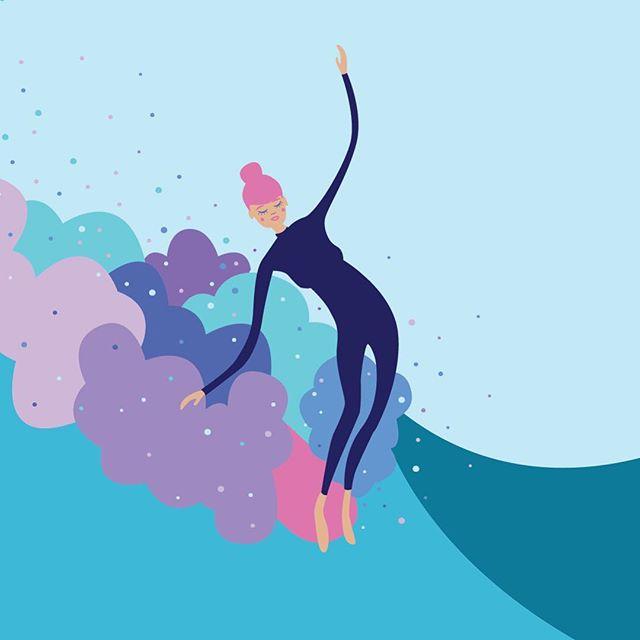El surf ilustrado de Caitlin O'Chapo