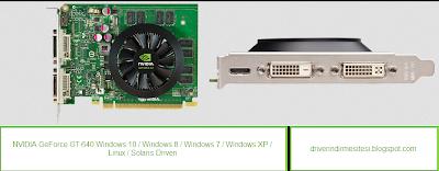 NVIDIA GeForce GT 640 ekran kartı driverı.