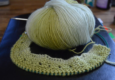 Mini Mochi hand knit scarf