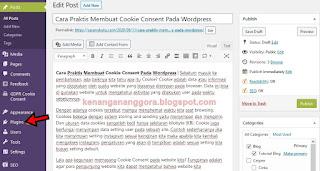 Cara Praktis Membuat Cookie Consent Pada Wordpress