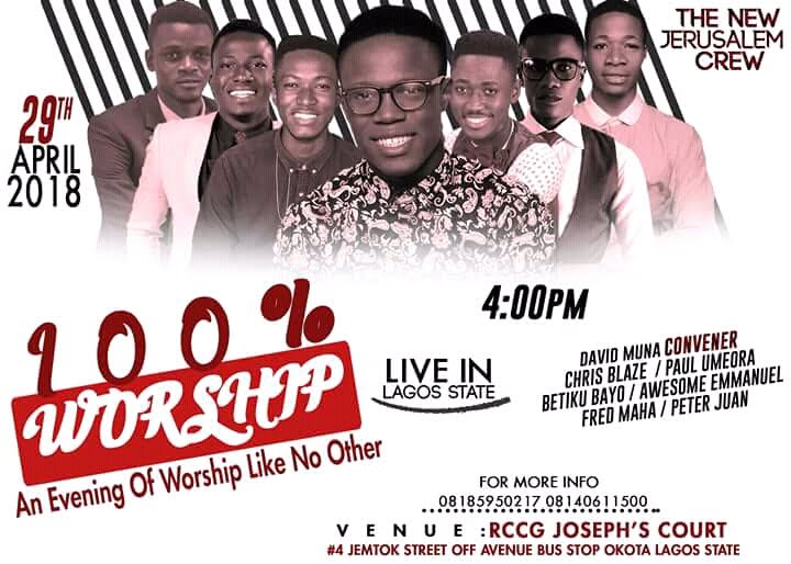 100% WORSHIP 5TH EDITION LIVE IN LAGOS STATE