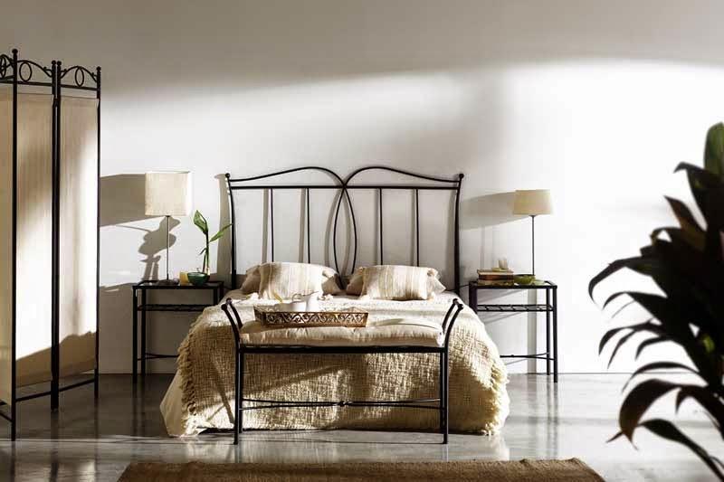 Cabezal de dormitorio en forja