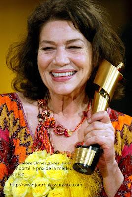 Hannelore Elsner après avoir remporté le prix de la meilleure actrice