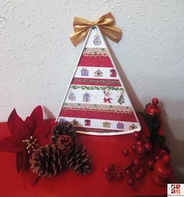 arbol de navidad reciclado