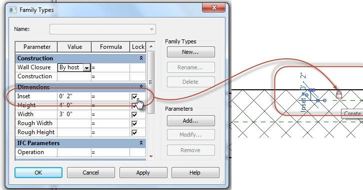 Revit OpEd: Family Types Dialog - Lock Parameter