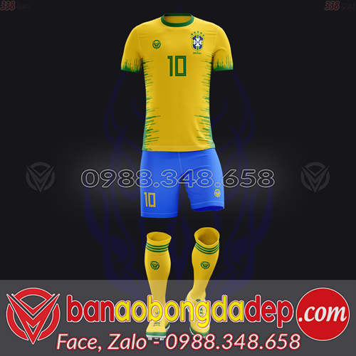 Áo Đội Tuyển Đặt May Theo Yêu Cầu - Mã BRAZIL-01