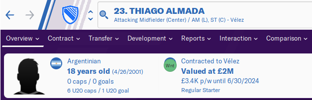 FM20 Wonderkid Analysis - Thiago Almada