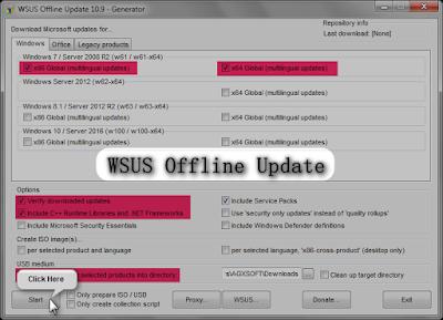 Actualizar Windows y Office sin conexión a internet