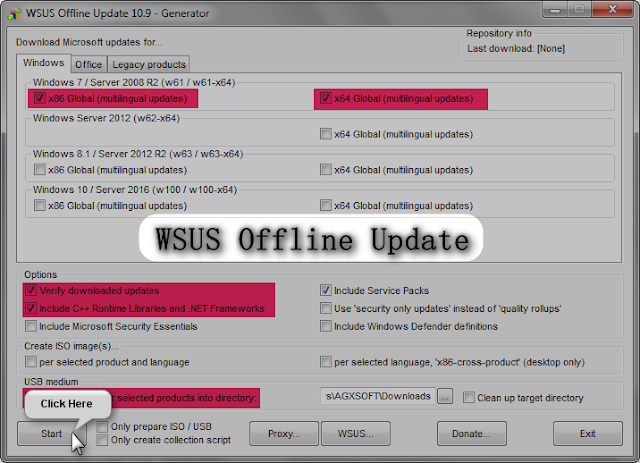 WSUS Offline Update 11.9 | Actualizar Windows y Office sin conexión a internet
