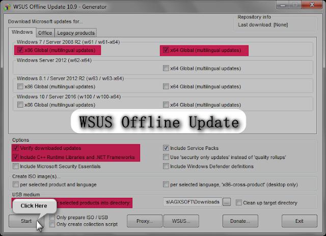 WSUS Offline Update 11.9 | Actualizar Windows y Office sin conexión a internet