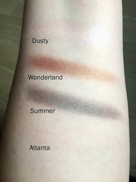 W7 Cosmetics In The Night Palette Swatches