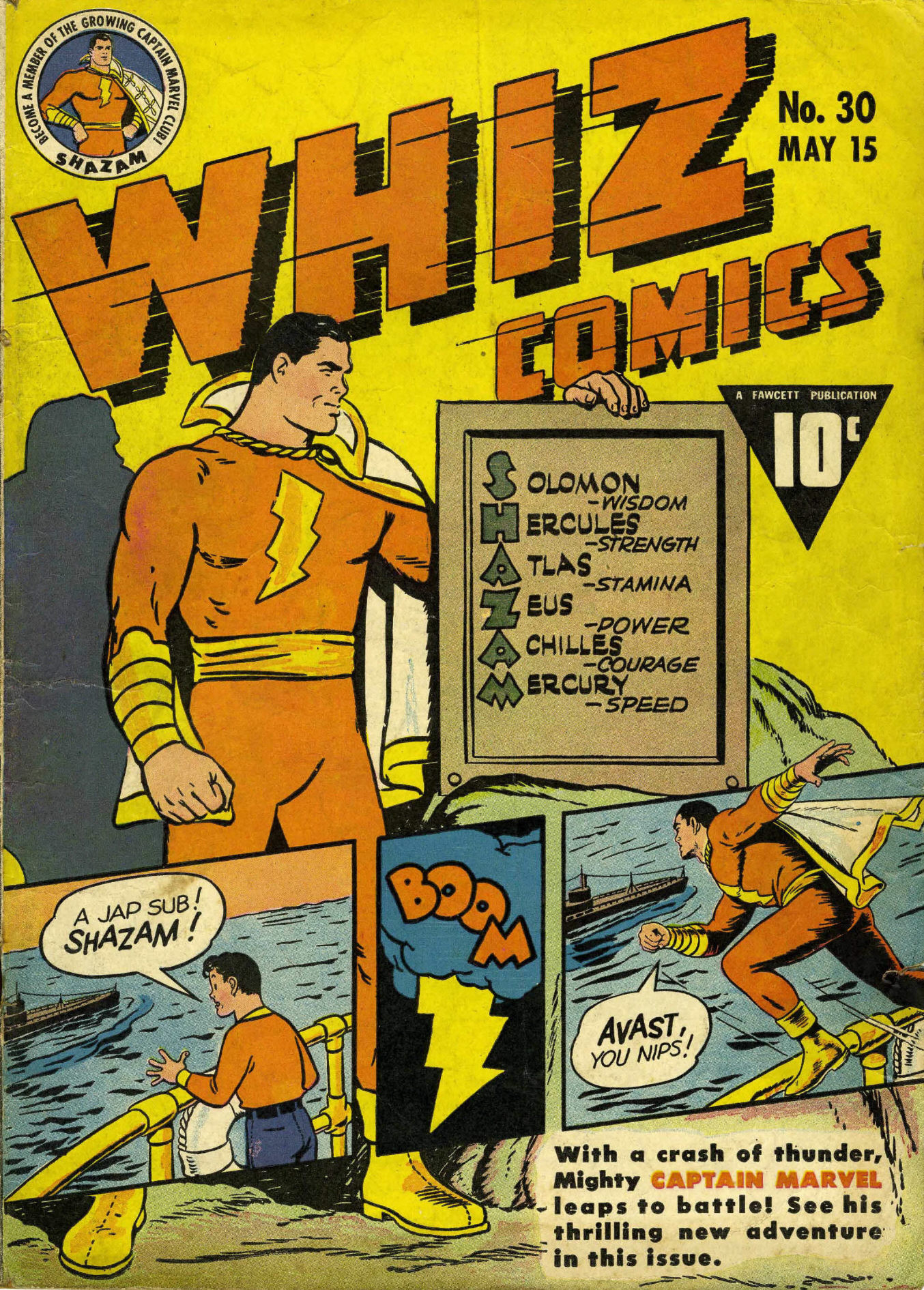 WHIZ Comics issue 30 - Page 1
