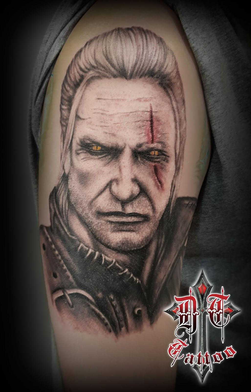 Wiedźmin Tattoo Dark Templar Tattoo Studio Tatuażu Oświęcim