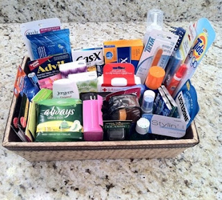 wedding restroom toiletry basket