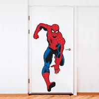 Vinilos de Super Héroes para decorar la puerta de la habitación de los niños SPIDERMAN