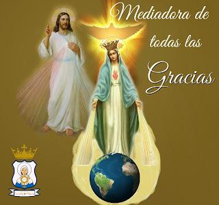 Resultado de imagen para María mediadora de todas las Gracias