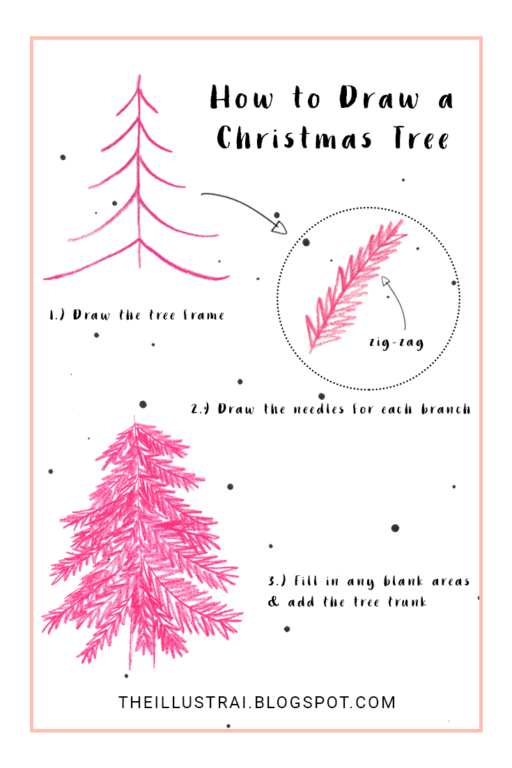 My simple, three-step method to drawing Christmas trees