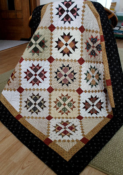 Cross and Crown Quilt Free Pattern