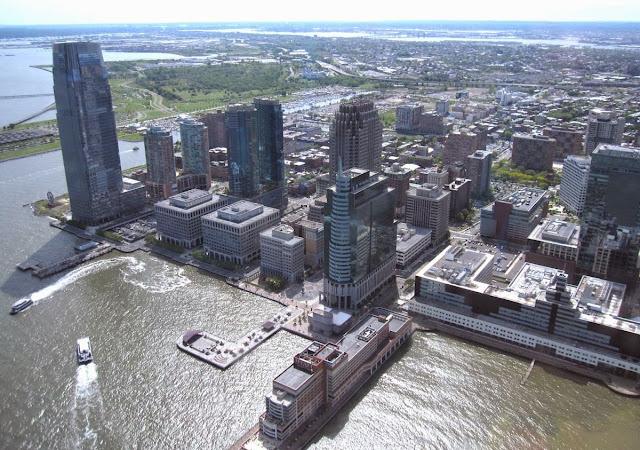 Imagem aérea de Jersey city