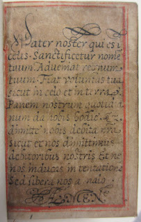 A page containing the Lord's Prayer in Latin.