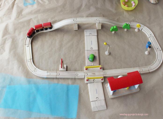 Minimundo DIY viaje en tren