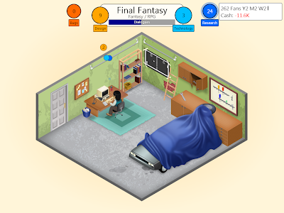 Gameplay from the title Game Dev Tycoon for PC and Tablet