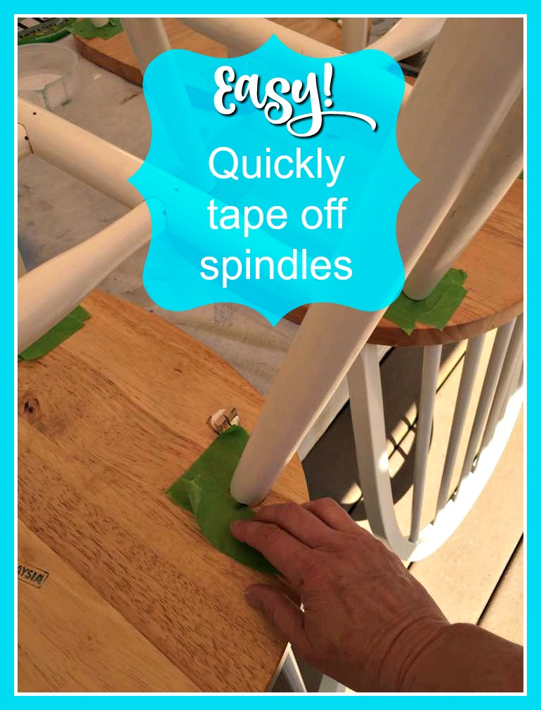 The easy way to tape off spindles.