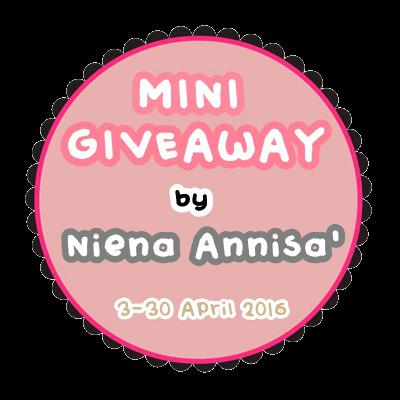 Mini Giveaway By Niena Annisa'