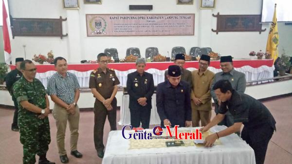 Paripurna DPRD, Mustafa Diberhentikan Dari Jabatan Bupati Lamteng
