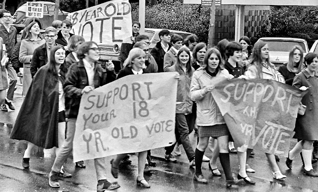 Support your 18 year old vote 1970s