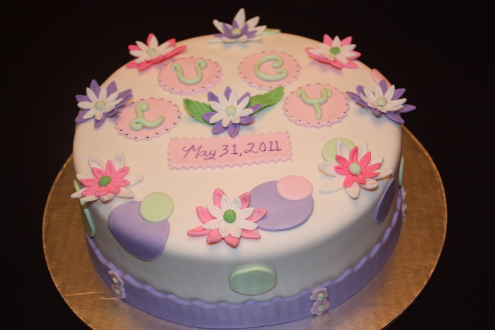 Sweet On You-Designer Cups & Cakes: Baby Shower Cake