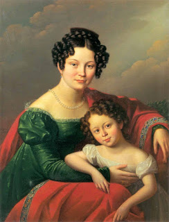 Олешкевич Иосиф Иванович «Портрет молодой женщины с ребёнком»