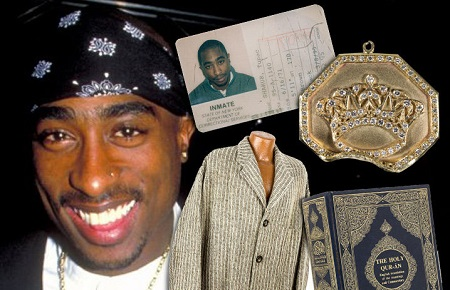 Tupac Shakur's Photos, Jewelry & Hand-Written Song Lyrics Are Set To Fetch $320k
